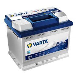 Varta Blue Dynamic EFB 12V 60Ah 640A Jobb+ autó akkumulátor