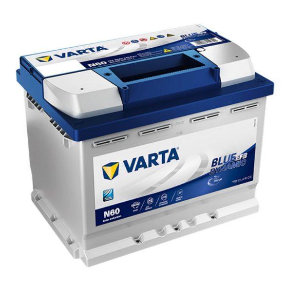 Varta Blue Dynamic EFB 12V 60Ah 640A Jobb+ autó akkumulátor - 560500