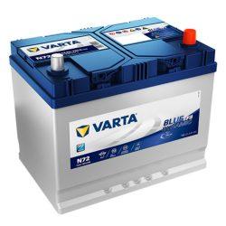 Varta Blue Dynamic EFB 12V 72Ah 760A Jobb+ ázsiai autó akkumulátor